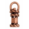 Revolving End Cap - Rope 12mm 2mm Hole Antique Copper